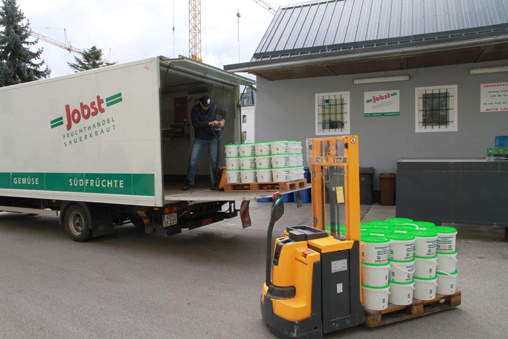 Lieferung Jobst Sauerkraut